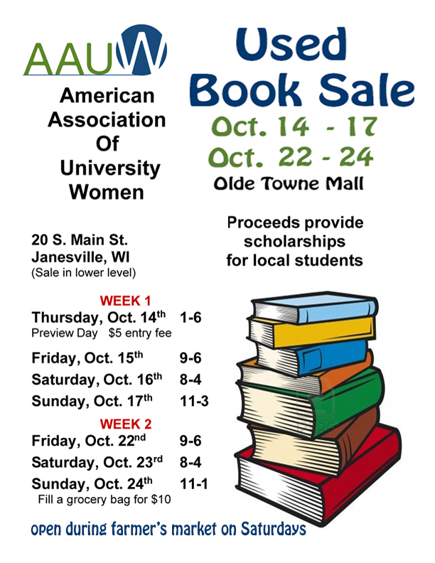Final 2021 Book Sale poster